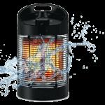 サラマンダーヒーターはIPx5の防水性能を持っています。