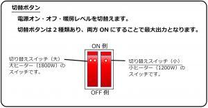 パラソルタイプヒーターの操作要領