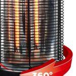 サラマンダーヒーターは360°首振りが可能です。