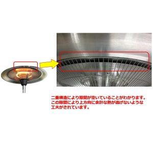 フェニックスヒーターは優れた断熱性を発揮する、アルミニウム二重構造設計となっています。