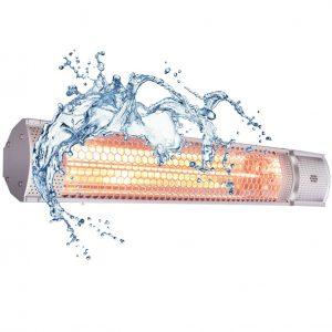 フェアリーヒーターは完全防水仕様IP65です