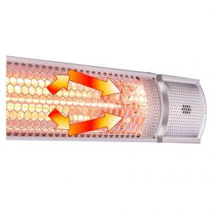 フェアリーヒーターは効率を極限まで高める内部反射板を実装しています。