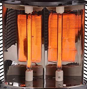 ラウンドヒーターには熱効率を重視した反射板設計がされています。