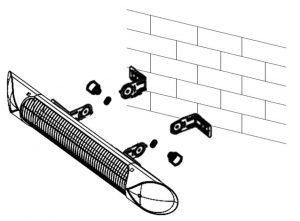 ペガサスヒーターの壁・天井への取り付け要領