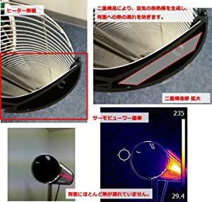 ペガサスヒーターは優れた断熱性を発揮する、アルミニウム二重構造設計となっています。