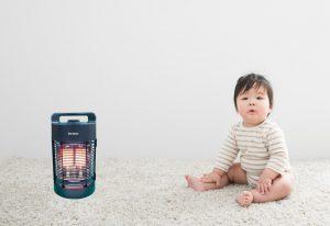 ラウンドヒーターは小さい子供、高齢者の方に優しい暖房機です。