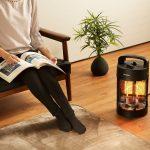 暖房能力が高いので室内でもしっかり使えます。