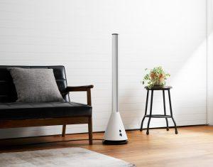 空気清浄機能付スリムタワーファン白 利用シーンイメージ