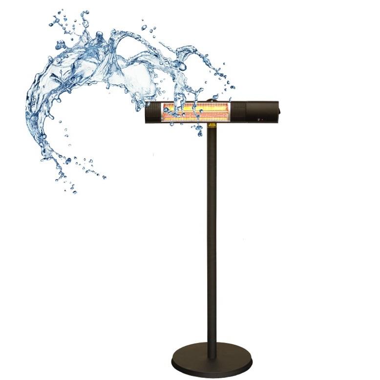 ピクシーヒーターはIPx5の防水性能を持っています。