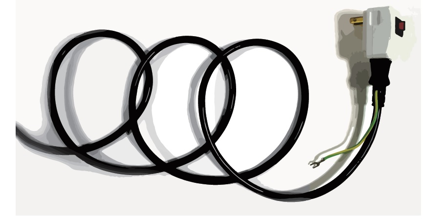 電源ケーブルは6mのロング仕様